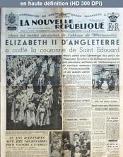 LA NOUVELLE REPUBLIQUE  numéro 2655 du 03 juin 1953