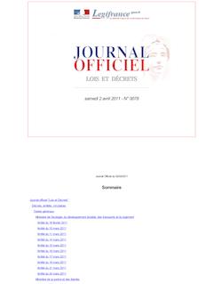 Journal officiel n°0078 du 2 avril 2011