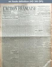 L' ACTION FRANCAISE  numéro 4 du 04 janvier 1922
