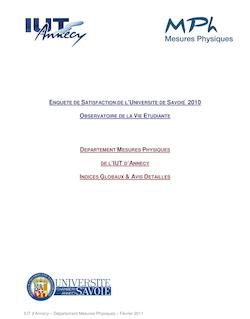 IUT d'Annecy Département Mesures Physiques Février