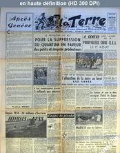 LA TERRE  numéro 562 du 28 juillet 1955