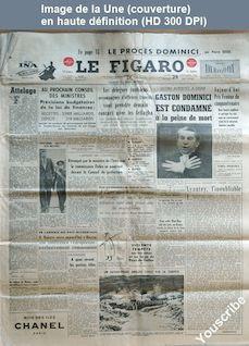 LE FIGARO  numéro 3180 du 29 novembre 1954