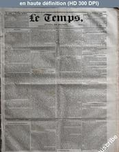 LE TEMPS  numéro 1066 du 18 septembre 1832