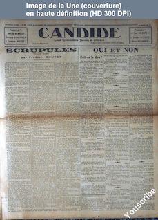 CANDIDE numéro 89 du 26 novembre 1925