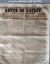 REVUE DE L'OUEST numéro 58 du 14 mai 1857