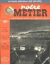 NOTRE METIER LA VIE DU RAIL numéro 143 du 23 mars 1948
