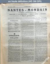 NANTES MONDAIN numéro 29 du 13 avril 1901