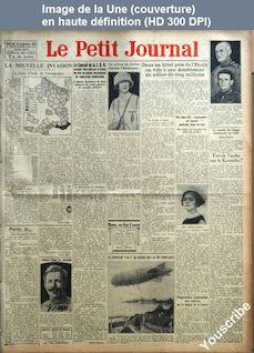 LE PETIT JOURNAL  numéro 22518 du 10 septembre 1924