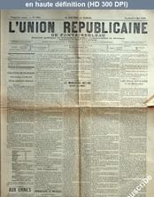 L' UNION REPUBLICAINE DE FONTAINEBLEAU  numéro 1945 du 08 mai 1896