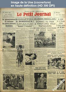 LE PETIT JOURNAL  numéro 27173 du 10 juin 1937