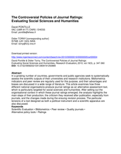 The controversial policies of journal ratings: evaluating social sciences and humanities