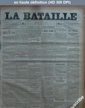 LA BATAILLE  numéro 771 du 23 février 1891