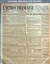 L' ACTION FRANCAISE  numéro 261 du 18 septembre 1918