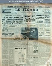 LE FIGARO  numéro 3869 du 13 février 1957