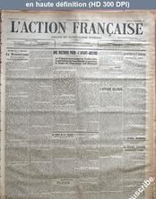 L' ACTION FRANCAISE  numéro 347 du 13 décembre 1913