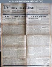 L' ACTION FRANCAISE  numéro 303 du 29 octobre 1928