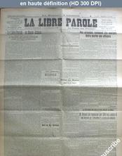 LA LIBRE PAROLE  du 01 juin 1921