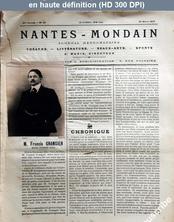 NANTES MONDAIN numéro 25 du 22 mars 1902