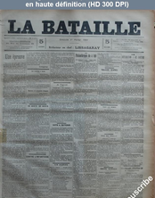 LA BATAILLE  numéro 749 du 01 février 1891