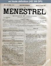 LE MENESTREL  numéro 43 du 25 septembre 1864