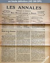 LES ANNALES POLITIQUES ET LITTERAIRES  numéro 1183 du 25 février 1906