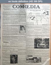 COMOEDIA numéro 2800 du 16 août 1920