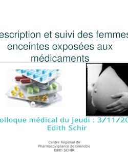 Prescription et suivi des femmes enceintes exposées aux ...