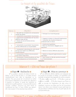 Sciences CM1/CM2 – Le cycle et la qualité de l'eau - Séquence Le cycle de leau et la qualité de leau C3