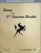 REVUE DE LA 5 EME DIVISION BLINDEE numéro 11 du 15 septembre 1946