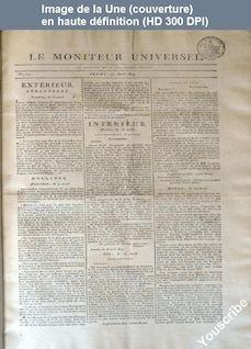 LE MONITEUR UNIVERSEL  numéro 111 du 21 avril 1814