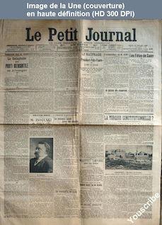LE PETIT JOURNAL  numéro 16650 du 28 juillet 1908