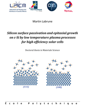 Silicon surface passivation and epitaxial growth on c-Si by low temperature plasma processes for high efficiency solar cells