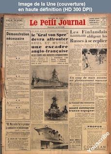 LE PETIT JOURNAL  numéro 28090 du 17 décembre 1939