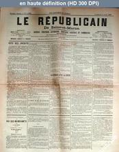 LE REPUBLICAIN DE SEINE ET MARNE  numéro 1392 du 03 avril 1885