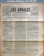 LES ANNALES POLITIQUES ET LITTERAIRES  numéro 1079 du 28 février 1904