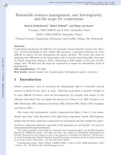 Renewable resource management, user heterogeneity, and the scope for cooperation