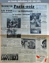 PARIS SOIR numéro 281 du 30 mars 1941