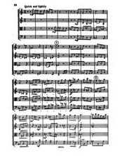 Partition , Quick et lightly - rather broader, corde quatuor en E minor, RT viii/8
