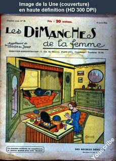LES DIMANCHES DE LA FEMME  numéro 58 du 15 avril 1923