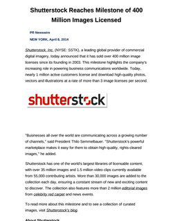 Shutterstock Reaches Milestone of 400 Million Images Licensed