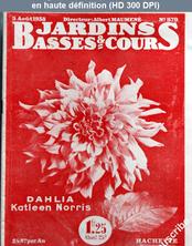 JARDINS BASSES ET COURS numéro 579 du 05 août 1938