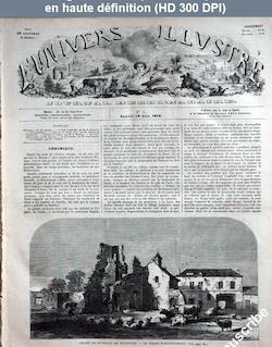 L' UNIVERS ILLUSTRE  numéro 5 du 19 juin 1858