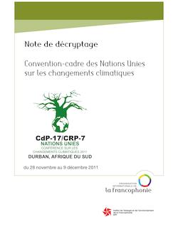 Note de décryptage Convention-cadre des Nations Unies sur les ...
