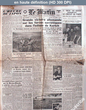 LE MATIN  numéro 21176 du 14 mai 1942