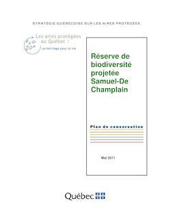 Plan de conservation de la réserve de biodiversité projetée Samuel ...
