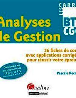 Les Carrés BTS CGO - Analyses de gestion