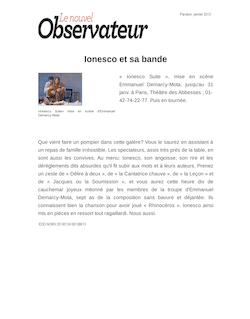 dissertation ionesco comique