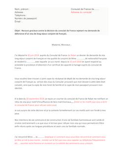modele lettre recours refus de visa consulat de france. Black Bedroom Furniture Sets. Home Design Ideas