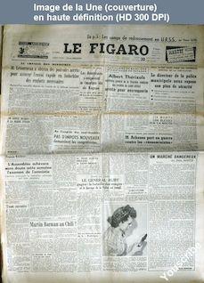LE FIGARO  numéro 1928 du 20 novembre 1950