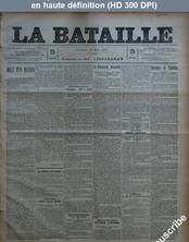 LA BATAILLE  numéro 791 du 15 mars 1891